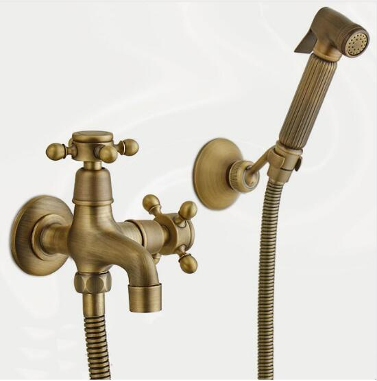 Phenomenal Us 46 74 43 Off Antique Bronze Bidet Toilet Seat Sprayer Gun Hygienic Shower Set Portable Bidet Faucet With Brass Shower Holder 1 5M Hose In Bidet Pabps2019 Chair Design Images Pabps2019Com