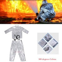 Flash Deal Fireproof Cloth Fireproof Heat Insulation Clothes Firefighter Working Uniform Fireproof Safe Fire Protected Clothing