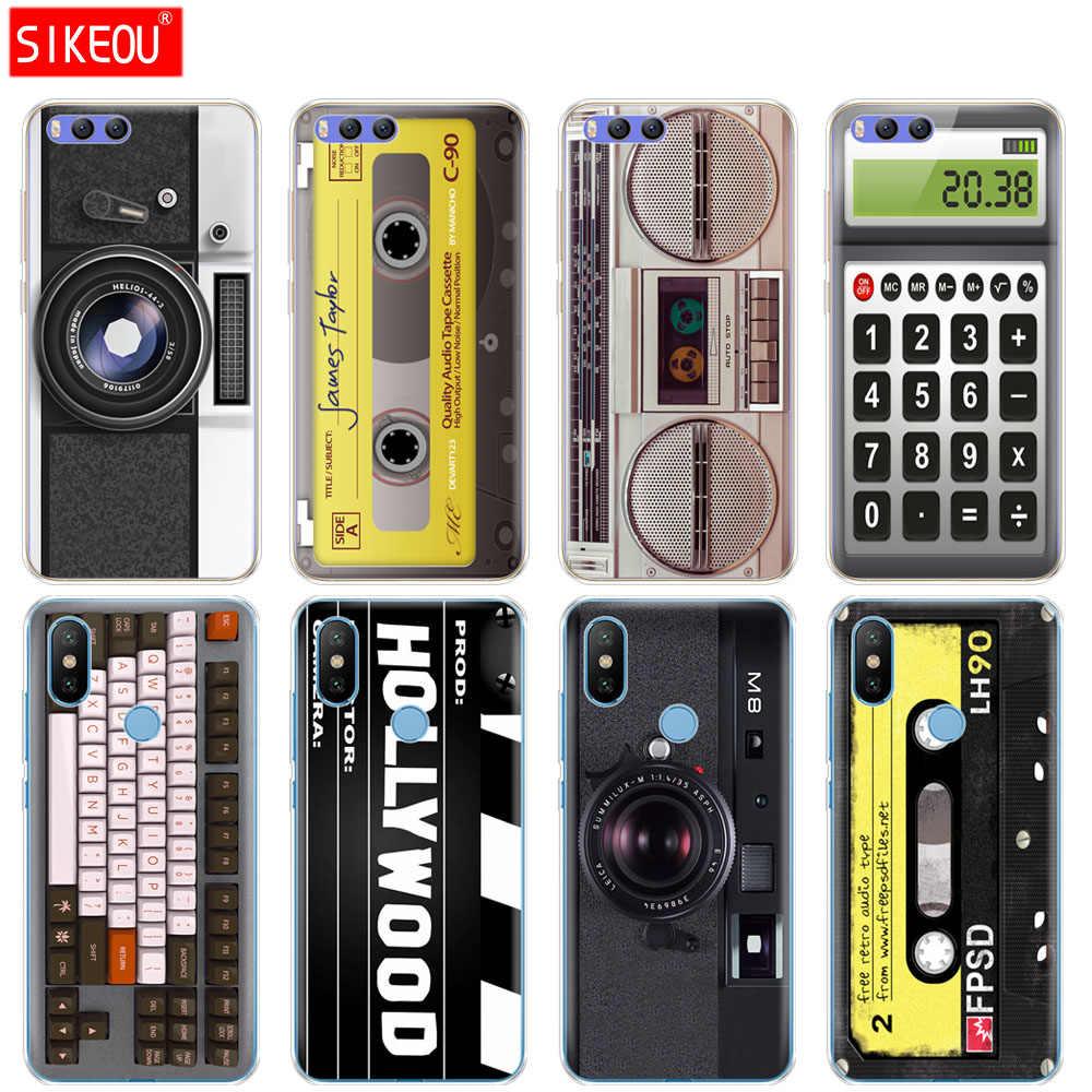 Étui en silicone pour Xiao mi mi 8 8SE A1 A2 5 5 S 5X6 mi 5 mi 6 NOTE 3 MAX mi x 2 2 S cassettes clavier Boombox