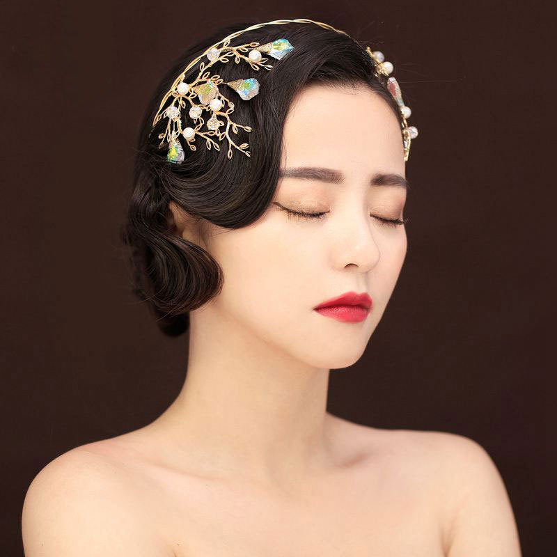 Luxury Colorful Crystal Bridal Crowns Wedding Headband