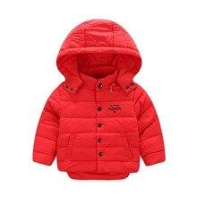 Новый бренд зимой вниз пальто ребенок мужского пола короткая конструкция утолщение детская одежда baby дети жилет куртка парки