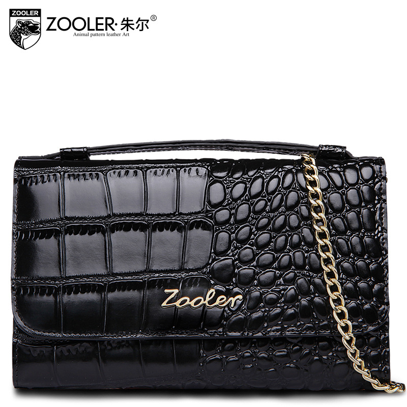 ZOOLER Women Crocodile Pattern Genuine Leather Tote Bag 2018 Spring Ladies Small Chain Shoulder Bags for Women Messenger Bag zooler genuine leather genuine real cowhide small handbags high quality brand women plaid shoulder bags chain tote crossbody bag