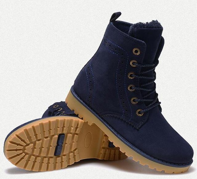 Nouveaux Chaussures Bottes d'Homme hiver d'Homme en plein air Bottes de neige en coton velours épais Casual Chaussures De Luxe 2yTSiQ1