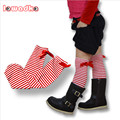 Hot! New Kids Girl Children Baby Cotton Long Stripes Bow  Knee High Stocking Leg Warmers Knee Pads Princess Magic
