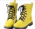 Caliente termal, Además de Terciopelo Zapatos de Los Niños Botas de Nieve Niños y Niñas KX913 Laredo Atan Para Arriba Martin Botas para Niños 2015 de Invierno