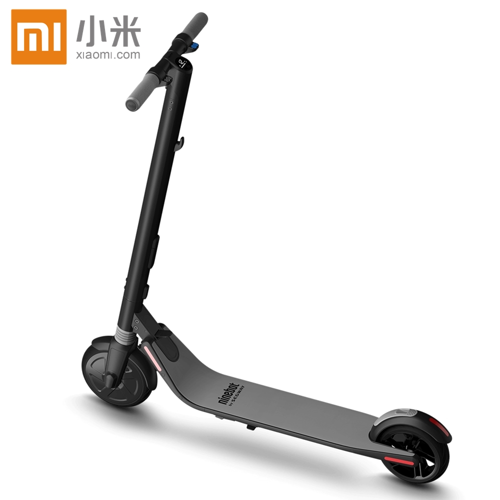 Original XiaoMi kickScooter Smart Electric Scooter foldable lightweight long board hoverboard skateboard 25KM mileage with APP hoverboard four wheels electric skateboard long board double brake electric scooter light board foldable hoverboards skateboard
