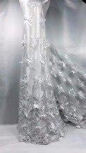 Последней Африканской кружевной ткани 3D кружевной ткани 2018 высокое качество кружева полиэстер вышитые французский шнур кружевной ткани для Для женщин