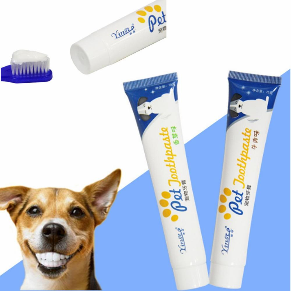 2 PCS Dog Teeth Cleaning Supplies Pet Healthy Edible Toothpaste Oral Cleaning Care For Dog