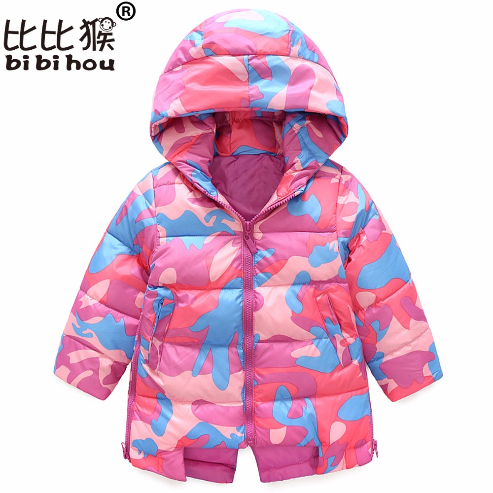 2017 Winter Jacket For Girls Coat Children Outerwear Coat Kids Girls Warm Hooded Cotton-padded Clothes Teenagers Girl Jacket children winter coats jacket baby boys warm outerwear thickening outdoors kids snow proof coat parkas cotton padded clothes
