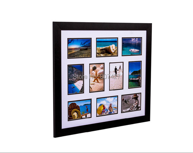 20x24 inch photo frame and 10 multi frames black color or 50x60cm wall decor family - Multi Photo Frame