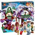 507 unids bela 10414 copas de los árboles de los elfos escondite bloques de construcción niña establece princesa de cuento de hadas elfos de plástico juguetes compatibles con lego