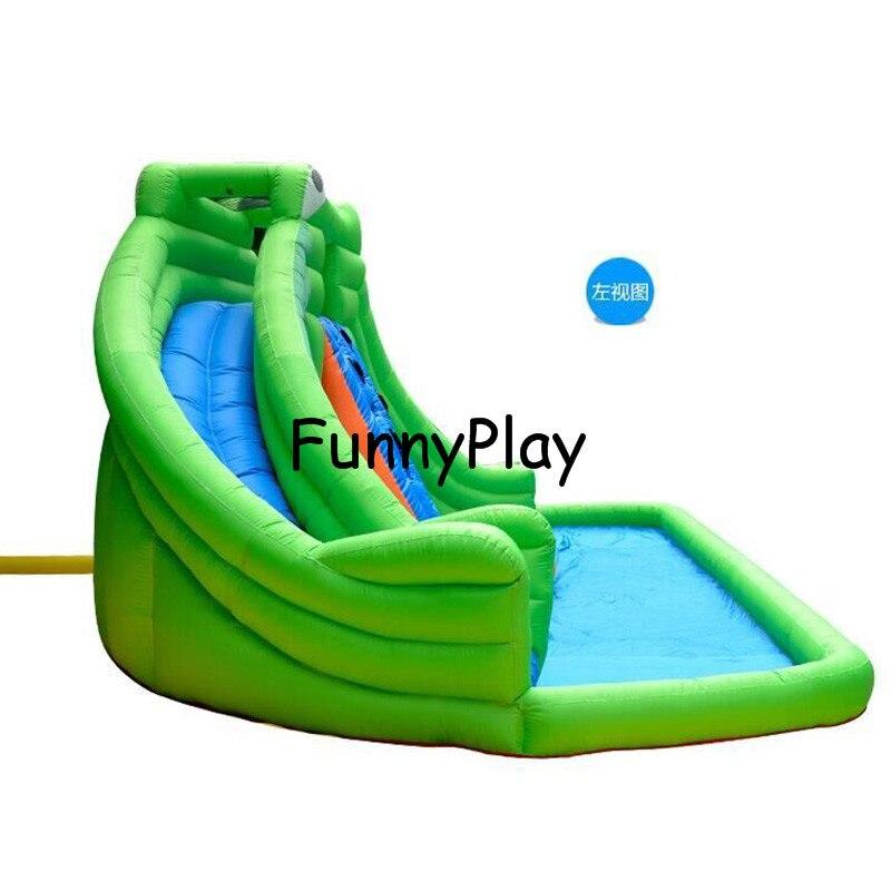Glissières gonflables de parc aquatique à vendre, glissière d'intérieur de trampoline de maison de jouet de terrain de jeu, glissière gonflable de piscine à louer