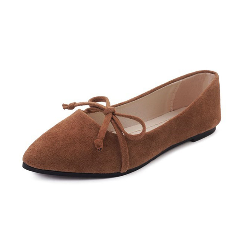 COZULMA Women Pointed Toe Flat Casual Shoes 2019 Bowtie Slip on Shoes Comfortable Non slip Ladies Shoes Size 35 40 in Women 39 s Flats from Shoes