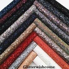 Glitterwishcome 21X29 см A4 Размеры синтетическая кожа, устойчивый блеск кожи с стрейч поддержка GM077A