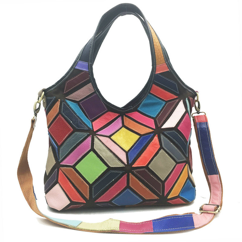 017 new kraft leather shoulder crossshoulder bag with three dimensional color genuine leather bags handbags Skin Crossbody bag