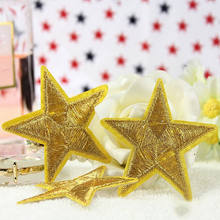1Pc Embroidered Iron On Sew On Patches Gold Little Star Iron-on Patch Space Center Uniform Clothing Polo Jacket Shirt Patch(China)