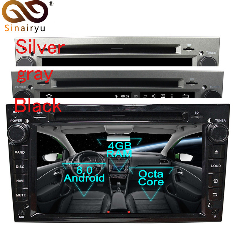 Sinairyu Android 8.0 Car DVD Player for Opel Vectra Antara Zefira Corsa Meriva GPS Navigation Multimedia Radio Stereo Head Unit