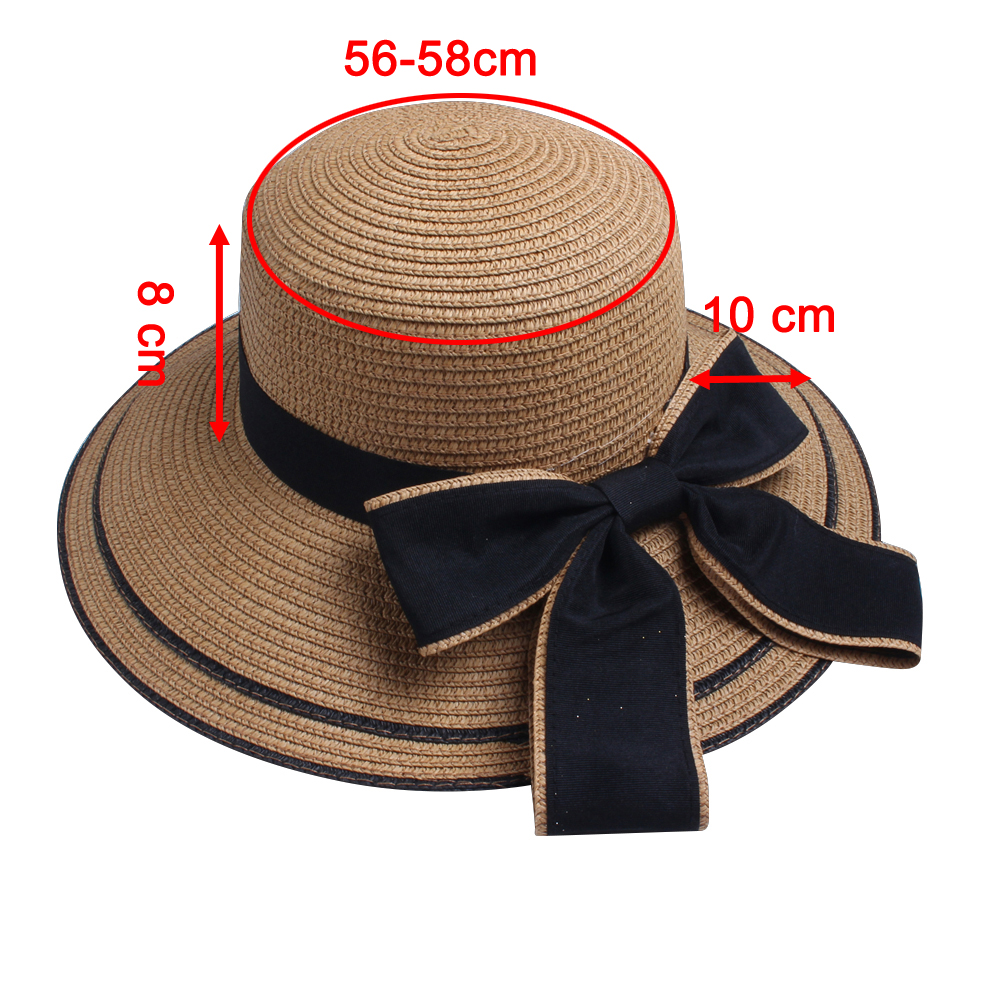 DIFANNI  Verão Mulheres Chapéu Panamá Velejador Chapéu de Praia ... 5881414258c