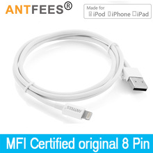 MFI Certified 8Pin 2.4A Charger Data Sync USB Cables Cords For iPhone 5 5s 6s 6 7 8 Plus f