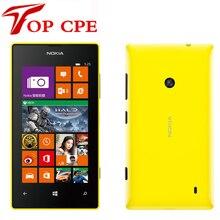 Разблокирована lumia 525 оригинальный nokia lumia 525 mobile phone windows dual core 4 »ips 8 ГБ 5.0mp один год гарантии