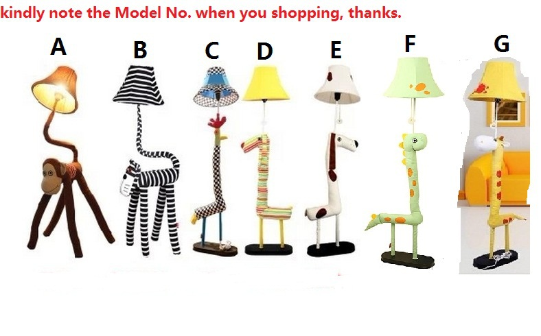 Novelty Rustic Children/Kids/Child Bedroom Cartoon Animal Floor Lamps/Lights/Lighting  Indoor Lighting Fixtures Free Shipping