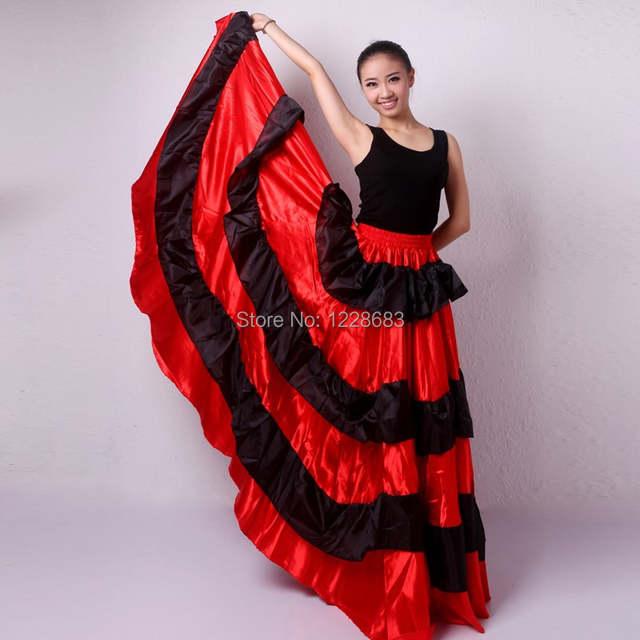 c000d94a7 € 14.45  5 estilos barato negro rojo más tamaño España baile Disfraz  Flamenca Trajes Flamenca niñas vestidos de Flamenco en Flamenco de La ...