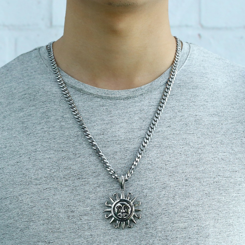 Men/'s Boy/'s Silver Tone ANCHOR 316L Stainless Steel Charm Pendant Necklace