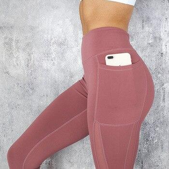 Women Mesh Pocket Fitness Leggings High Waist Legging Femme Mesh Patchwork Workout Leggings Feminina Jeggings 1