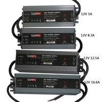 LED ultra-ince su geçirmez güç kaynağı IP67 DC12V trafo 60 W/100 W/120 W/150 W/led şerit için 200 W led Sürücü