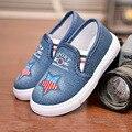 Детская обувь  детская обувь для девочек  обувь для бега  спортивные кроссовки для мальчиков  Модная Джинсовая Повседневная парусиновая обу...