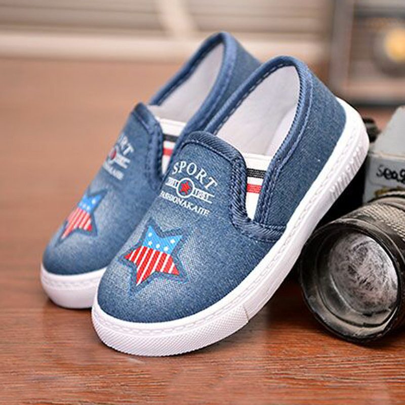 Kids Shoes Baby Toddler Girls Shoes Running Boys Sport Sneakers Fashion Denim Casual Canvas Shoes Student Flat Children Sneakers