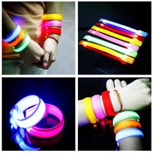New Arrival 10pcs/lot Led Bracelet Flashing Wristband Night Armband Rave Dance Party Fun Multi Colors Supplies