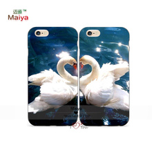 2pcs Lots Love Swan Animal Desgin Pair Lover Phone Cases For Iphone6 6plus Case Cover Valentine