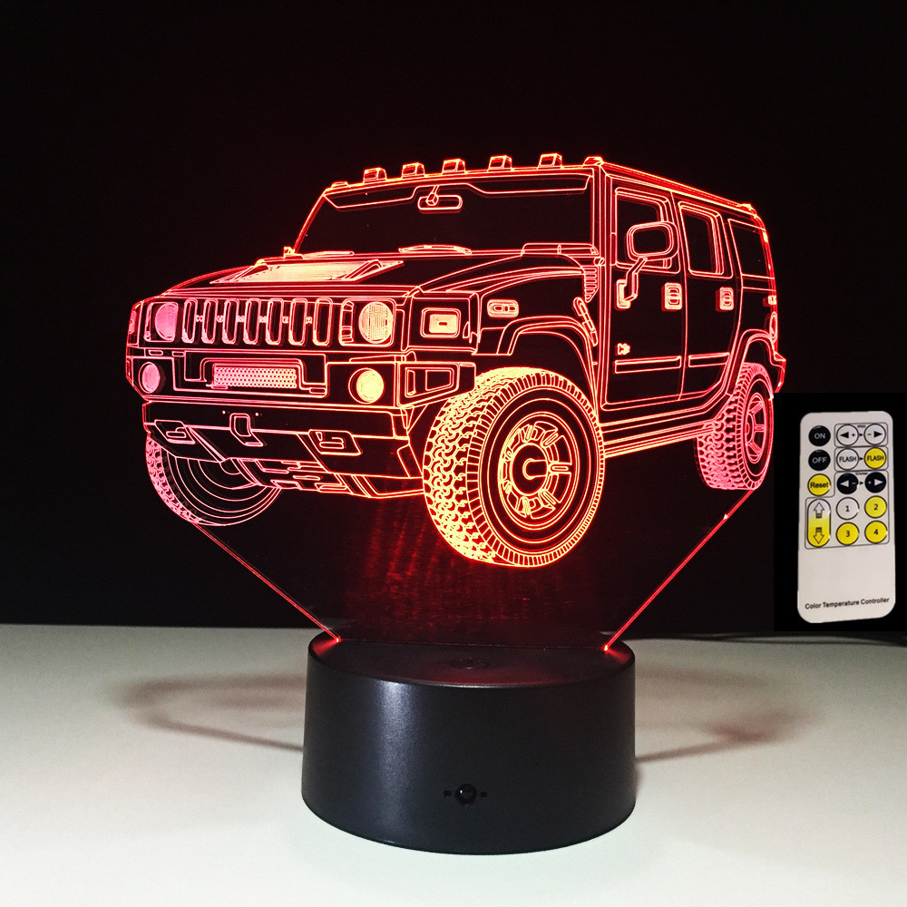 3D Lamp Remote Contol Touch SUV Car Kids Toy Child Birthday Gifts 7 Colors Change Lights Lighting LED Bulb For BedroomLuminaria