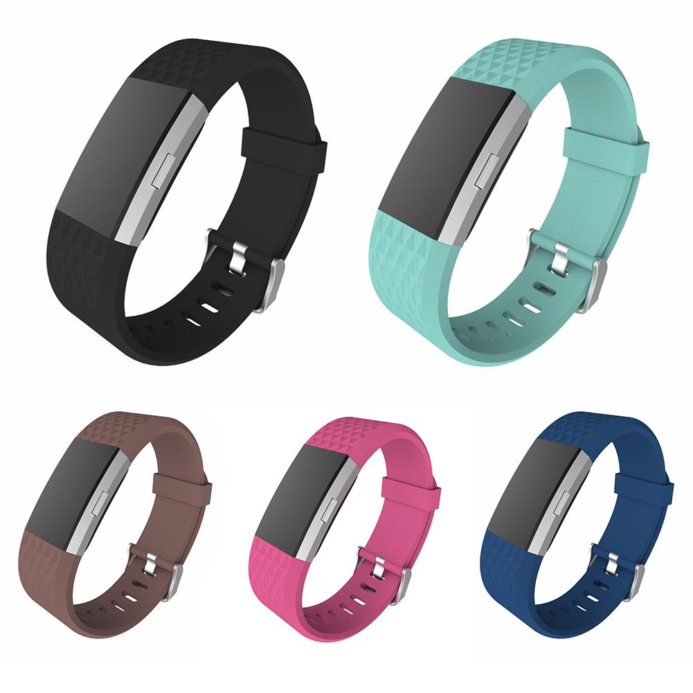 Replacement Strap Bracelet Soft Silicone Watch Band Wrist Strap For Fitbit Charge 2 Band Heart Rate Band cute love heart hollow out bracelet watch for women