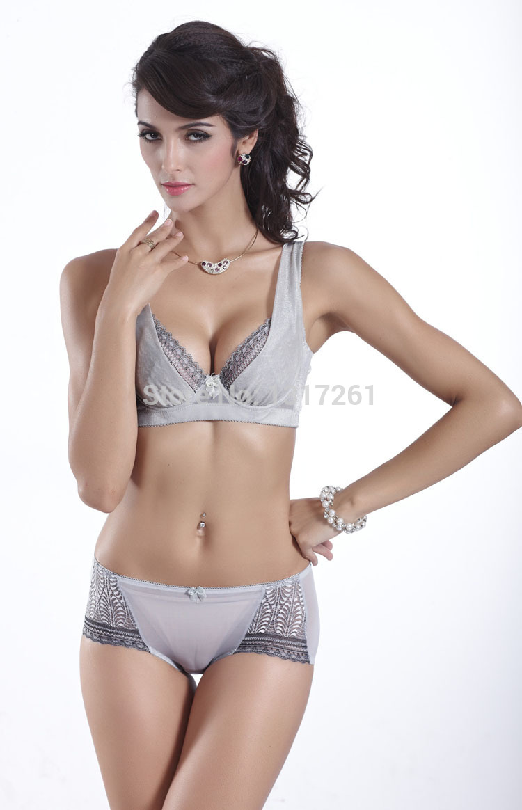 Noble quality voile sexy superb thin women brassiere u plunge bra gray silver pink B C noble quality voile sexy superb thin women brassiere u plunge bra,Noble U Womens Clothing