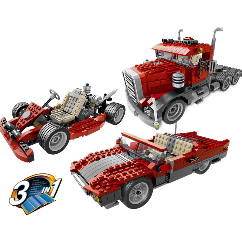 Lepin 24023 Big Rig building bricks blocks Toys for children boys Game Model Car Gift Compatible with Decool Bela 4955 lepin 02012 city deepwater exploration vessel 60095 building blocks policeman toys children compatible with lego gift kid sets