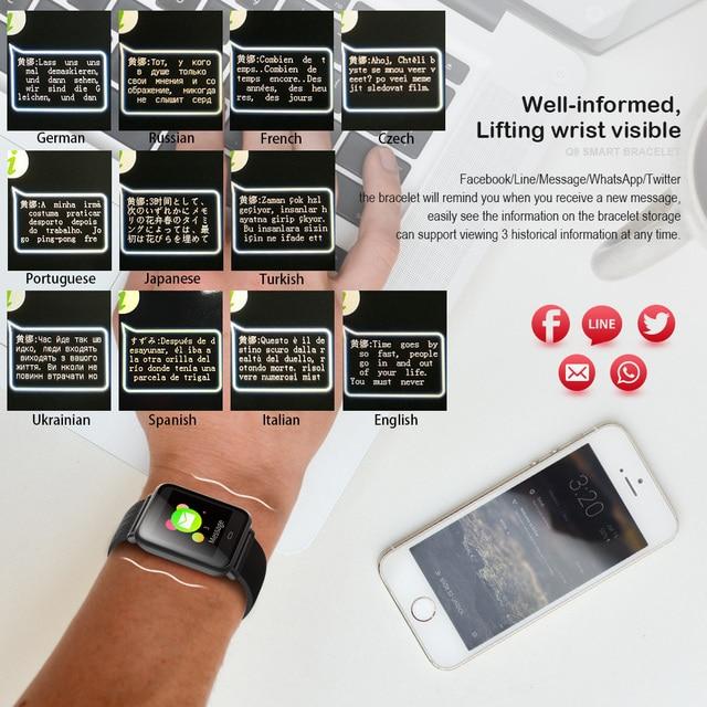 VERYFiTEK Q9 Blood Pressure Heart Rate Monitor Smart Watch IP67 Waterproof Sport Fitness Trakcer Watch Men Women Smartwatch 1
