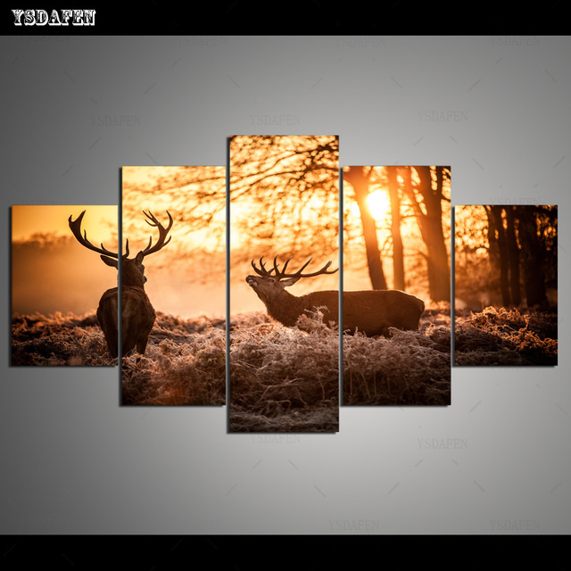 HD Printed Painting Canvas Printing Animal Deer painting Room decor print poster picture canvas Framed Art HG-125