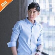 d416f05278 Nuevo Xiaomi 90 moda suave de alta calidad de Color sólido camisas de  hombre camisa 100% algodón de manga larga para camisas de .