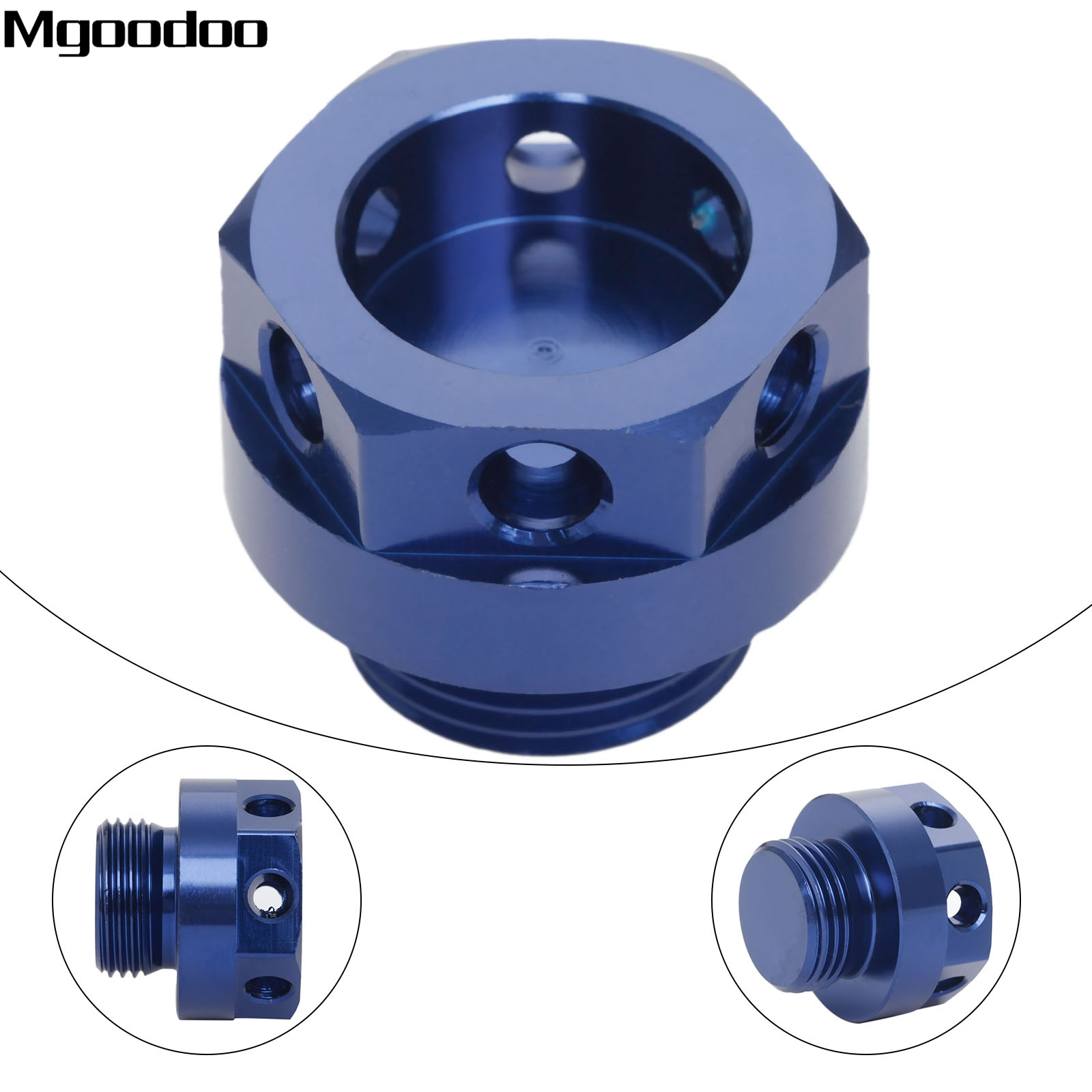 Mgoodoo CNC Aluminum Motorcycle Engine Oil Filler Cap Cover Screw For Suzuki GSX-R600 R750 R1000 GSX1300R DL650 DL1000 V-Strom motorcycle engine cover camshaft plug crankcase cap oil filler cover screw for honda cbr500r cb500f nc700 nc750 2013 2014