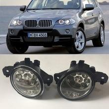 Для BMW X5 E70 2007 2008 2009 2010 9 предметов светодио дный s Противотуманные фары H8 H11 12 В 55 Вт галогенные светодио дный Туман фара автомобиль-Стайлинг
