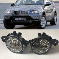 For BMW X5 E70 2007 2008 2009 2010 9 Pieces Leds Fog Lights H8 H11 12V 55W Halogen LED Fog Head Lamp Car Styling