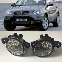 For BMW X5 E70 2007 2008 2009 2010 9 Pieces Leds Fog Lights H8 H11 12V 55W Halogen LED Fog Head Lamp Car Styling