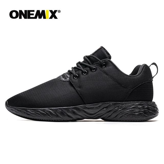Onemix camurça retro tênis de corrida tênis dos homens do esporte ao ar livre confortáveis sapatos de corrida masculinos zapatos de los hombres sapatos menino