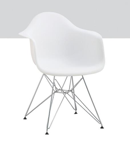 826c2402 Venta al por mayor moderna de diseño barato sillas blancas de plástico con  patas de metal