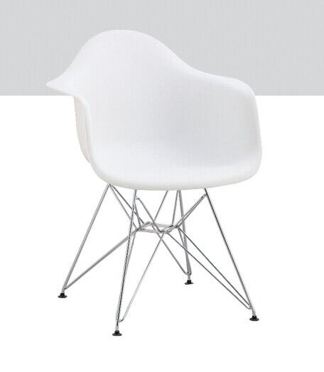 Wholesale Modern Cheap Design White Plastic Chairs With Metal Legs, Eiffel  Chair