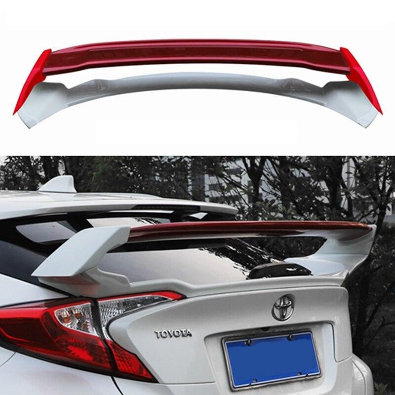 Автомобильный Стайлинг высокое качество АБС пластик Неокрашенный задний спойлер багажник крыло для Toyota CHR C-HR 2016 2017 2018 2019