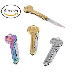 Mini kluczyk nóż list obóz odkryty brelok brelok do kluczy z obręczą składany otwarty otwieracz kieszonkowy pakiet przetrwać gadżet narzędzie wielofunkcyjne ostrze skrzynka narzędziowa w Artykuły do samoobrony od Bezpieczeństwo i ochrona na