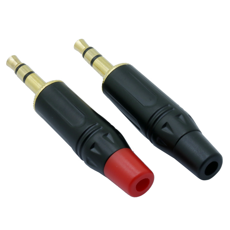 3.5mm 3 Pole Headphone Replacement Jack Male Plug Soldering Connector BR